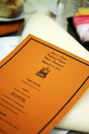 Vidalia Restaurant: menu
