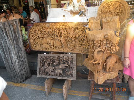 Wood carvings picture of chatuchak weekend market