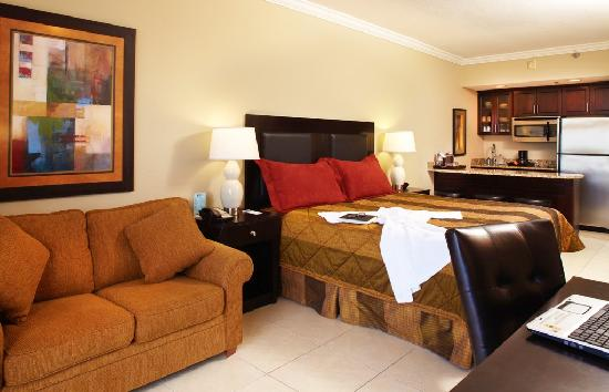 Shephard's Beach Resort: Spacious studio rooms are great with kitchenettes for convenience