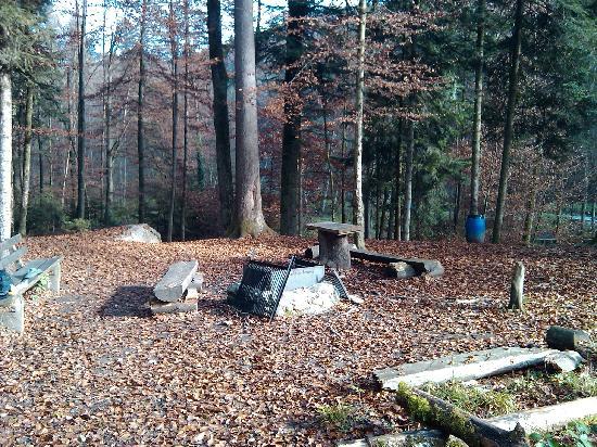 Grenzwanderweg Flawil: Grillplatz in der Wissbachschlucht