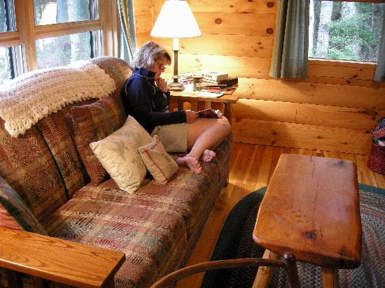 """The Waldheim : Interior of """"Dream"""" cottage"""