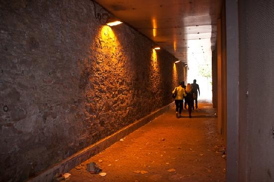 Barcelona Architecture Walks: Walking through to a hidden courtyard