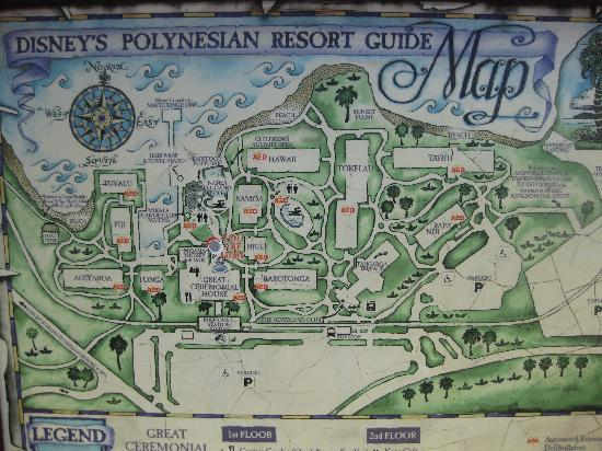 Map of Poly resort - Picture of Disney\'s Polynesian Village Resort ...