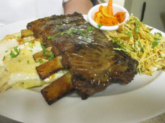 Joe Caribe Bistro and Cafe: Passion fruit glazed pork ribs often served on weekends