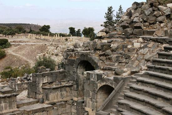Umm Qais, Jordan: theater steps