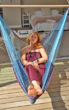 The No Road Inn: Hammocks on your balcony