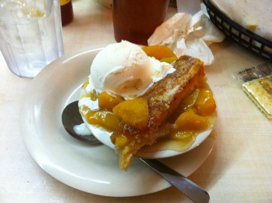 peach cobbler a la mode - Picture of Mary Mac\'s Tea Room, Atlanta ...