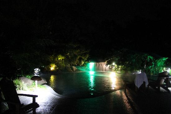 Hotel El Silencio del Campo: the hot springs pool (there's also a cold pool) but we stayed with the hot springs pool