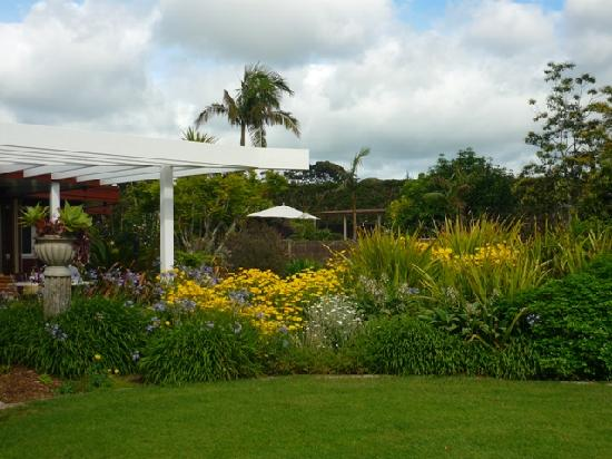 A photo of the garden at Moon Gate Villa