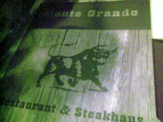 Steakhaus Monte Grande: the menu