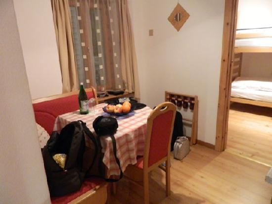Hotel Astras: dining room, kitchen and child room