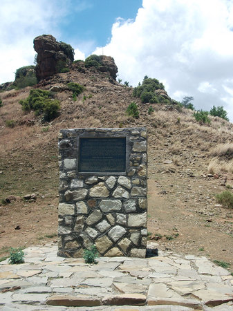 Maseru, Lesoto: National monument marker