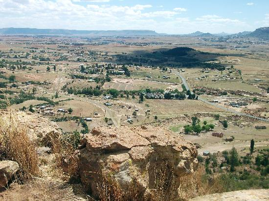 Maseru, Lesotho: View of the valley from Thaba-Bosiu