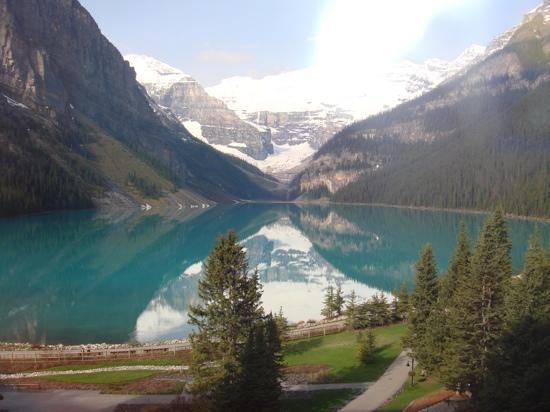 Fairmont Chateau Lake Louise: 2011/6月 部屋からの写真で~す