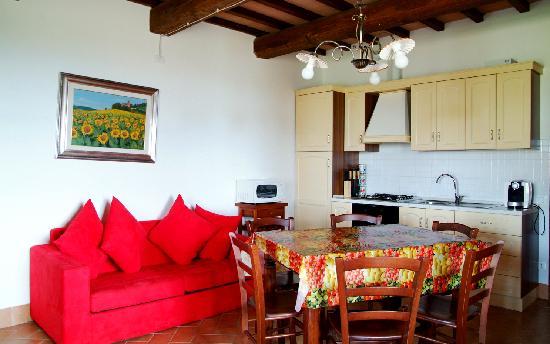 Il Poggio Alla Pieve: soggiorno/cucina