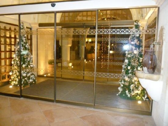 Christmas Decorations At Entrance Of
