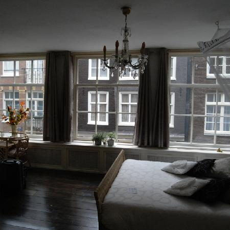 Amsterdam At Home: The bedroom with its amazing windows