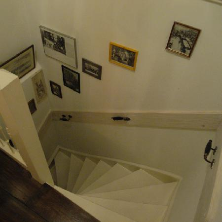 Amsterdam At Home: Steep stairs from the bedroom to the main room