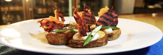 The Wine Rack & The Java Stop Cafe: deconstructed potato skins