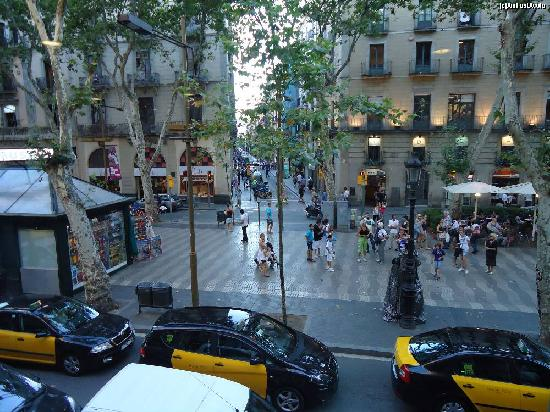 Hotel Fornos: the view from la rambla view room