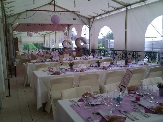 Chateau de Maubuisson: La terrasse pour vos réceptions