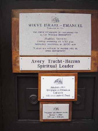 Mikve Israel-Emanuel Synagogue: Information