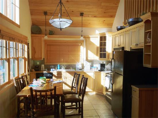 Solitude Cabins: View of the kitchen from the living area