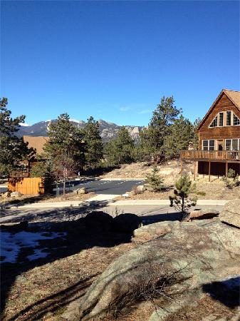 Solitude Cabins: View of the mountains from right outside the cabin