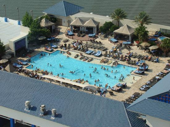 IP Casino Resort Spa - Biloxi: View of the pool from above