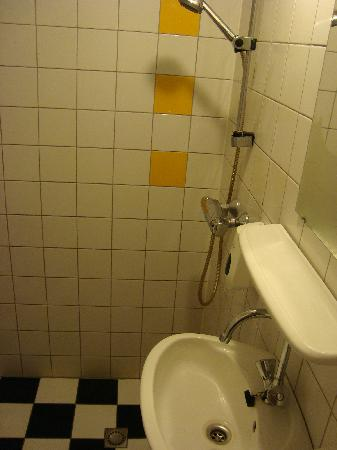 Hotel De Gerstekorrel: Shower and basin