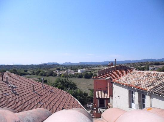 Le Cerisier: veiw from the roof terrace