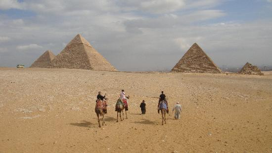 Best Egypt Shore Excursions: Camel ride into the Pyramids