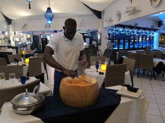 Azzurro Ristorante Italiano: The Wheel of Cheese II