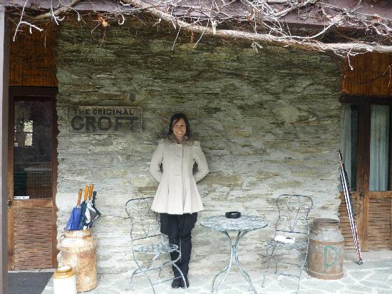 The Arrow Private Hotel: our hostess Paulette outside 'The Croft'
