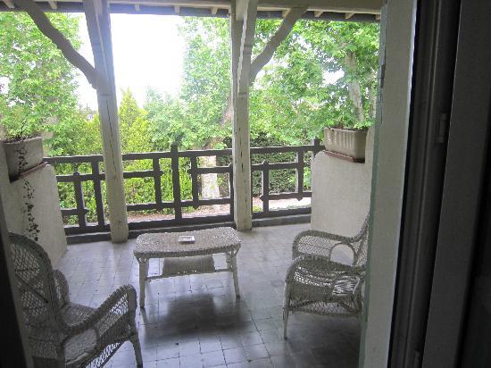 L'Hermitage : Terrasse de notre chambre