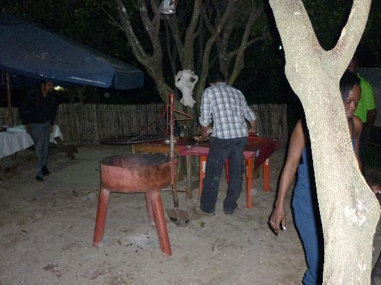 Tunza Lodge : or you can order some meat and fix a nice bbq