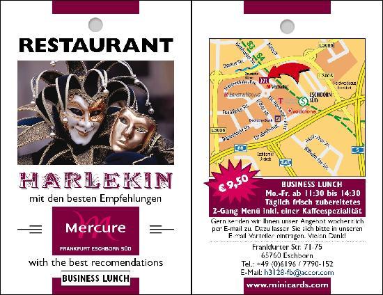 Restaurant Harlekin, Mercure Hotel Frankfurt Eschborn Süd