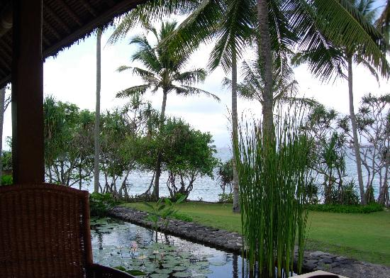 Alila Manggis: view from the restaurant