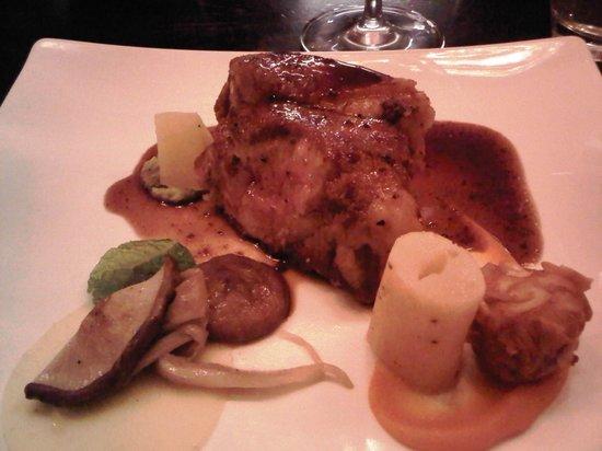 Restaurant Fyra: Main course (Pork chop) of the 4-course meal