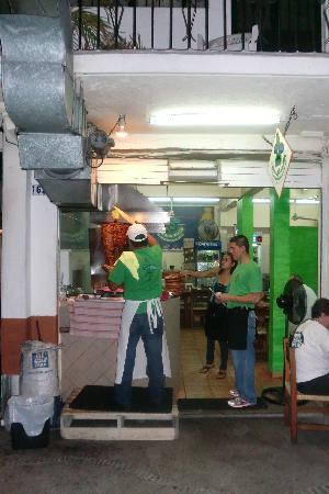 Pancho's Takos : Sidewalk Cooking in PV at Takos Panchos