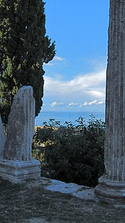 Porec Old Town: Porec Roman Ruins with Adriatic Sea Behind (Oct. 11)
