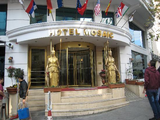 호텔 모자이크 사진