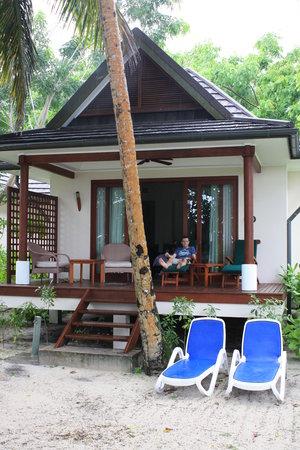 Hilton Seychelles Labriz Resort & Spa : Outside the beach villa