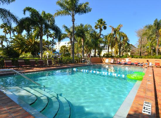 Tropical Beach Resorts Beautiful Relaxing Pool To Cool Off In The Warm Siesta Key