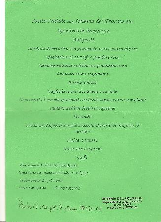 Cavallasca, Italy: menu' di natale 2011