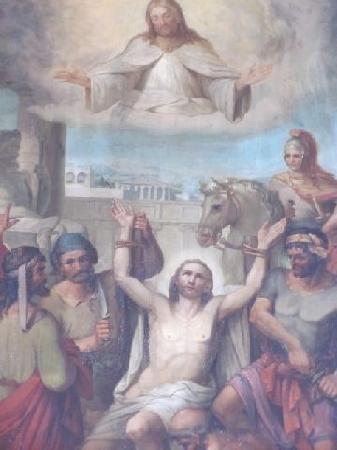 Evangelische St Bartholomaus: altar painting