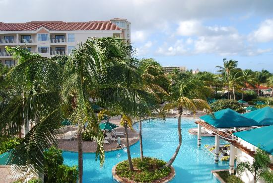 Marriott's Aruba Ocean Club: View from our Ocean Front balcony
