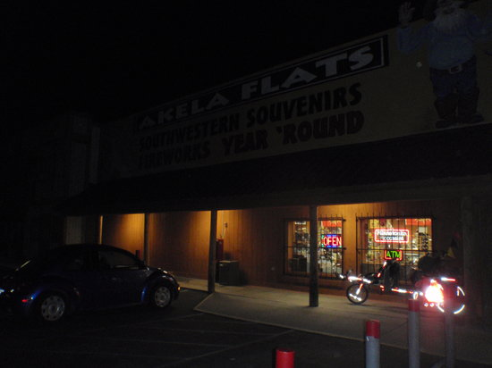 Deming, NM: Bowlin's Akela Flats--the Sun has set, but inside is windfree, warm, and inviting!