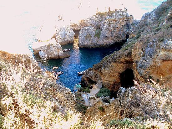 Ponta da Piedade, túneles y grutas.