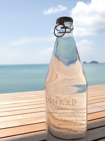 Conrad Koh Samui: Bottles of water were free in the room